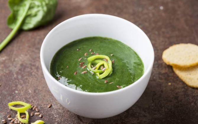 Crema di spinaci e porri