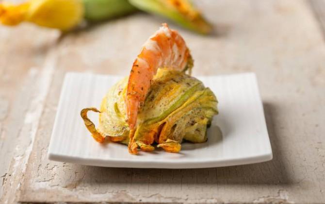 Sformato di zucchine e gamberetti