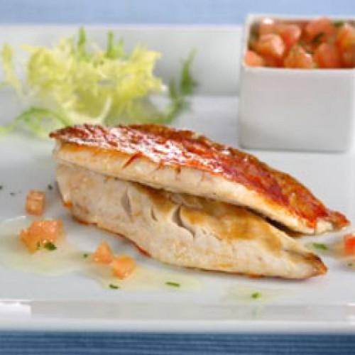 Pesce alla griglia con vinaigrette