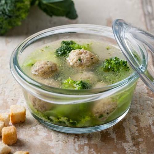 Polpette di carne e broccoli