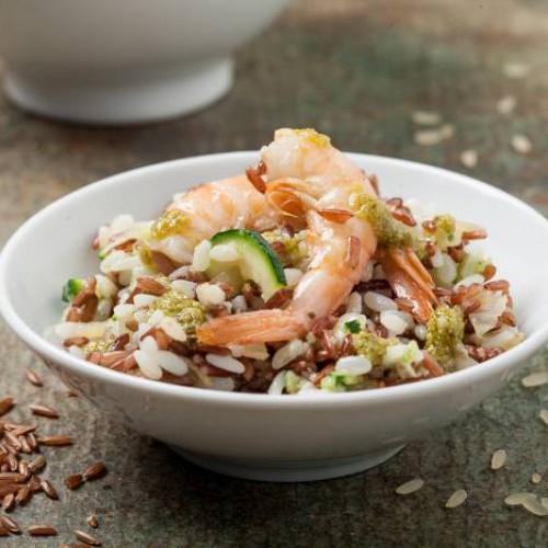 Insalata di riso con gamberetti