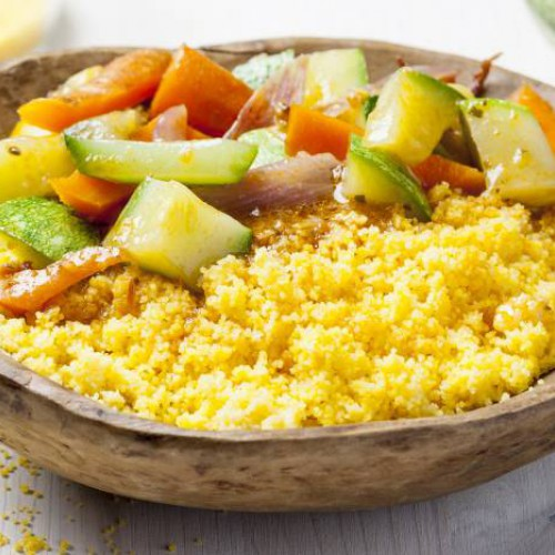 Cous cous con verdure in umido