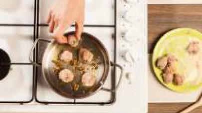 Rosolatele in poco olio extra vergine di oliva per qualche minuto, aggiungete il Dado Star Classico e mezzo bicchiere di acqua e continuate la cottura a fuoco lento. In una pentola cuocete il riso in