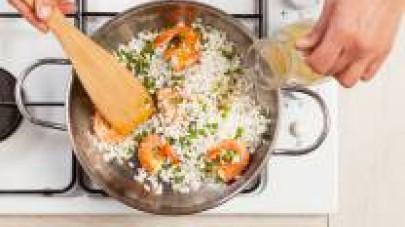 risotto gamberetti e piselli