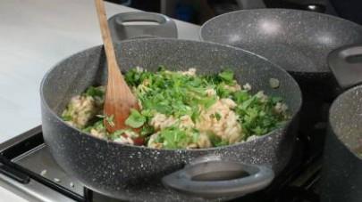 risotto con rucola