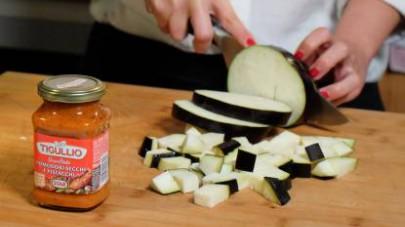 pasta melanzane e pancetta